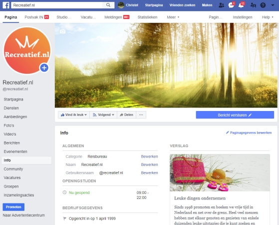 Recreatief.nl facebook